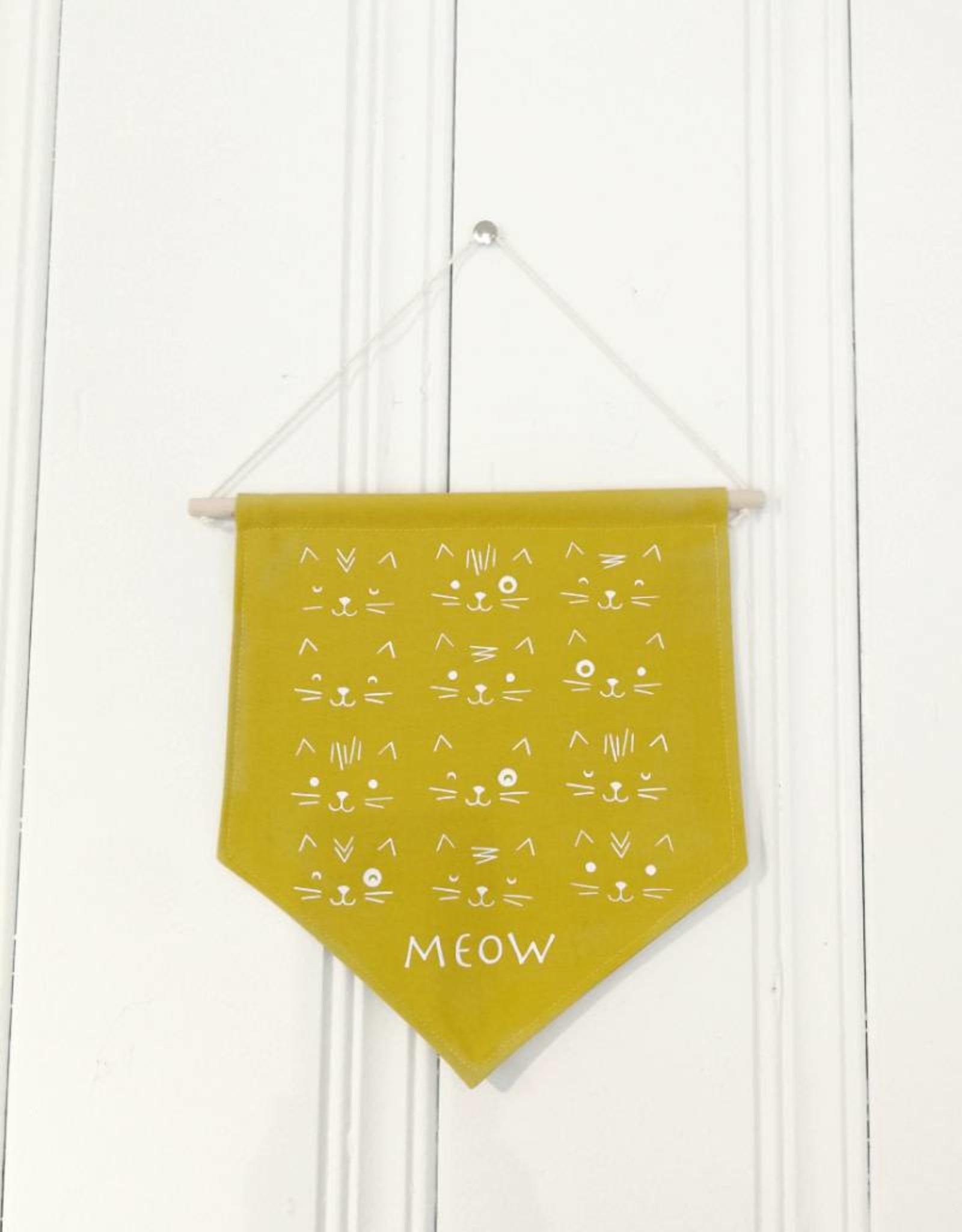 MLaure Fanion décoratif - Chat Moutarde