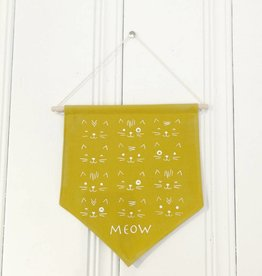 MLaure Decorative banner - Yellow cats