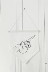MLaure Decorative banner - white sloth