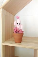 Pink Clémentine Cactus en feutrine - rose pâle et fushia