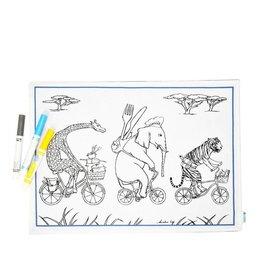 Couleur-Moi Napperon à colorier - Éléphant