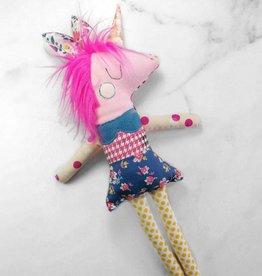 Créations Mirepoix Plush - Pink unicorn