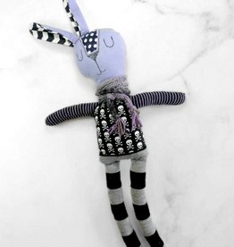 Créations Mirepoix Plush - Black and purple rabbit