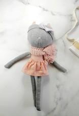 Kiou Kiout Plush - Cat with flowery dress
