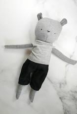 Kiou Kiout Peluche - Ours gris avec t-shirt