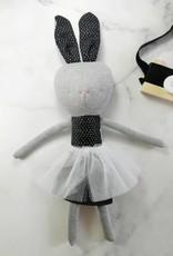 Kiou Kiout Peluche - Lapin gris avec tutu blanc
