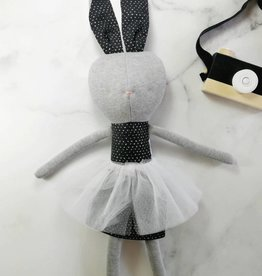Kiou Kiout Plush - Grey and black rabbit