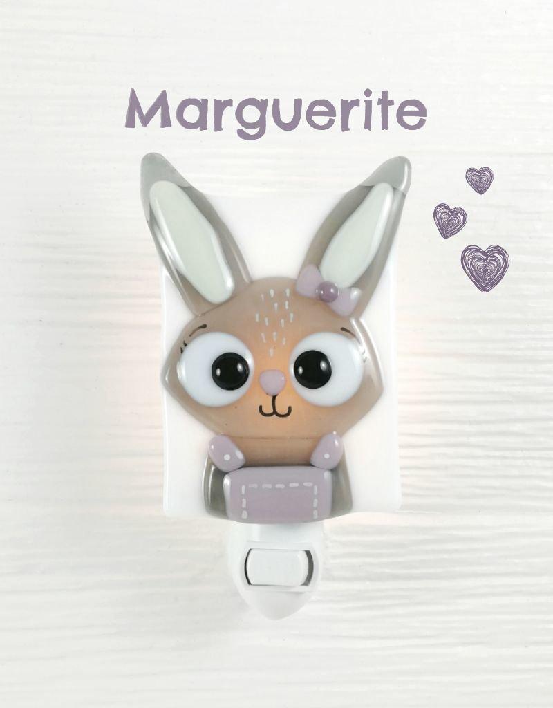Veille sur toi Veilleuse - Lapine - Marguerite