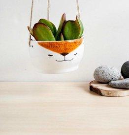 Noe Marin Ceramiste Ceramic - cute hanging planter - Fox