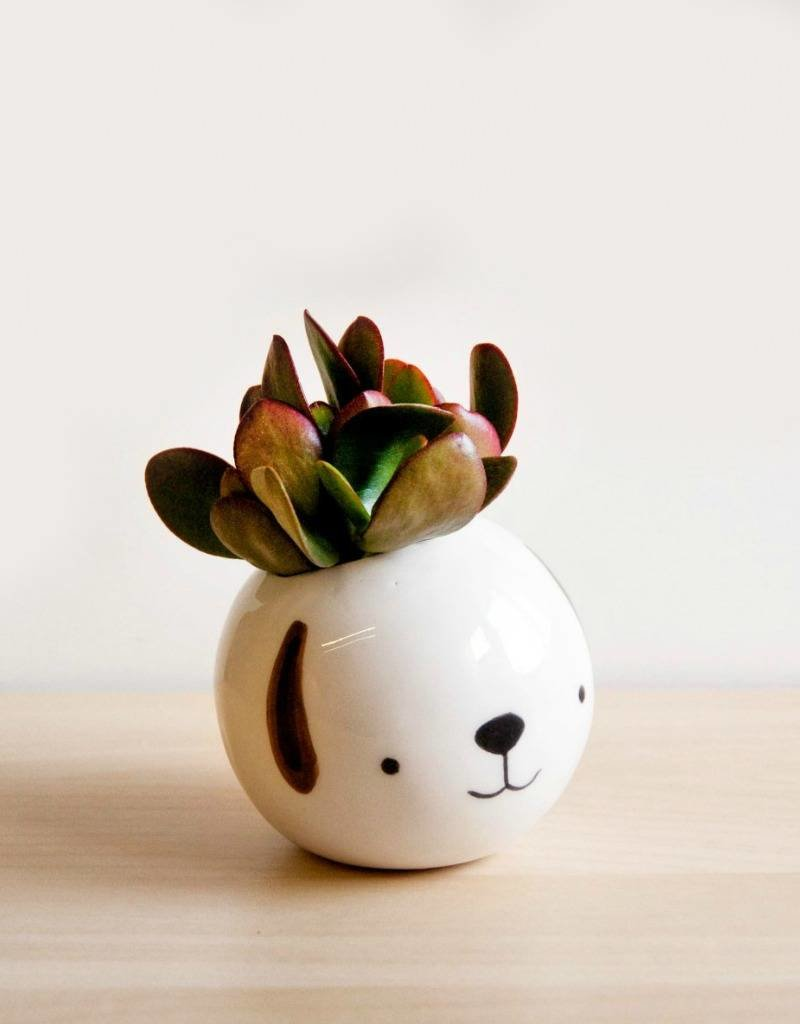 Noe Marin Ceramiste Ceramic - cute round bowl - Dog