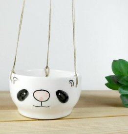Noe Marin Ceramiste Ceramic - cute hanging planter - Panda
