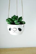 Noe Marin Ceramiste Céramique - pot suspendu pour plante - Panda
