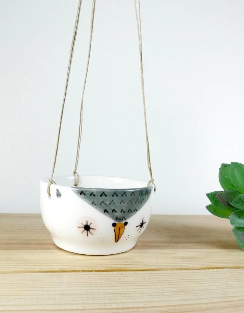Noe Marin Ceramiste Ceramic - cute hanging planter - Owl