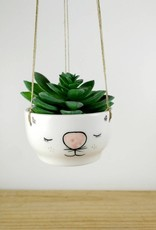 Noe Marin Ceramiste Ceramic - cute hanging planter - Cat