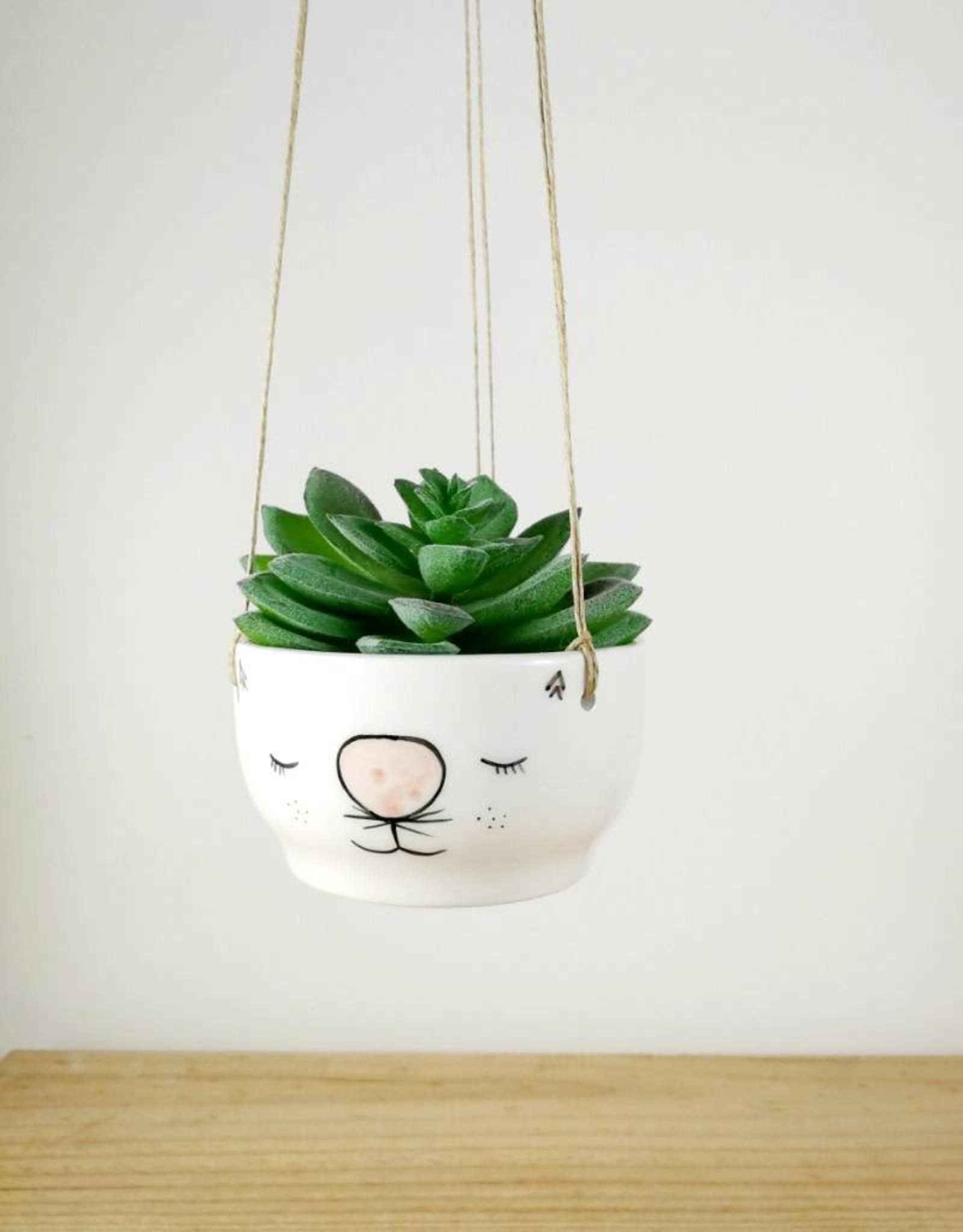 Noe Marin Ceramiste Ceramic - cute hanging planter - Cat
