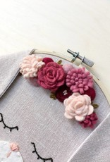 Délika tout-petit Décoration murale - Lapine et fleurs roses