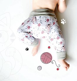3 p'tits pois Harem pants for children - 2T-4T - Charlotte