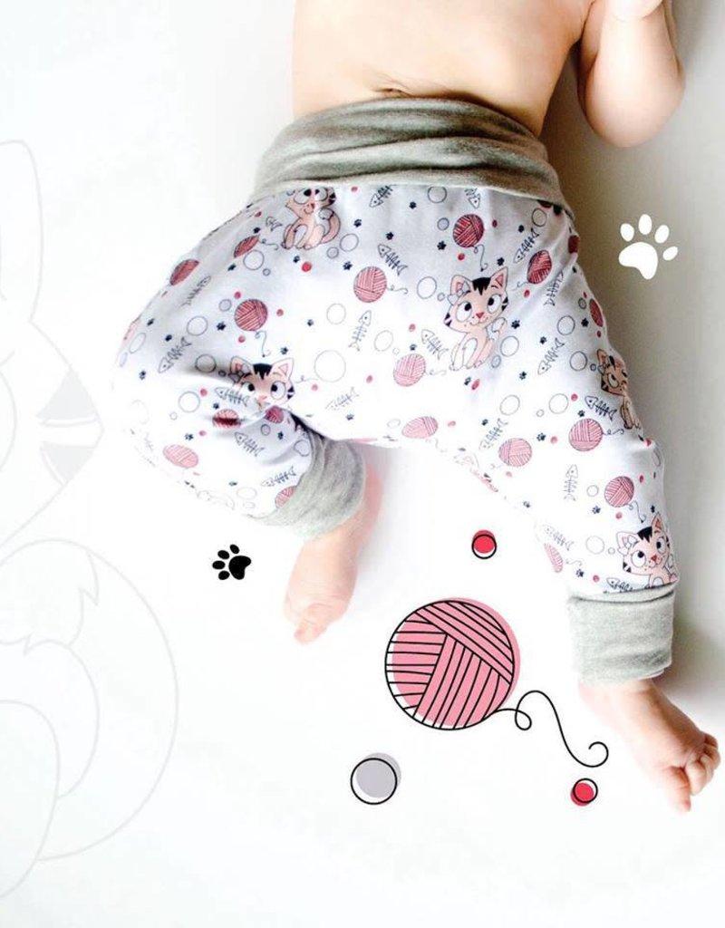 3 p'tits pois Harem pants for children - 2T-4T - Charlotte