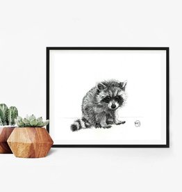 Le nid atelier Illustration - Raccoon