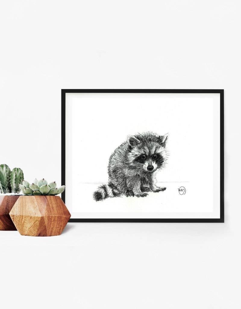 Le nid atelier Illustration - Raccoon