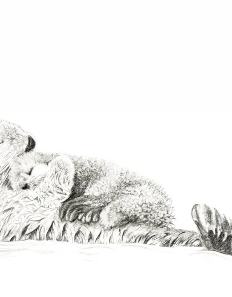 Le nid atelier Illustration - Maman Loutre et bébé