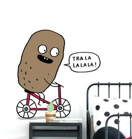 ADzif Wall decal - Elise Gravel - Potato on a bike