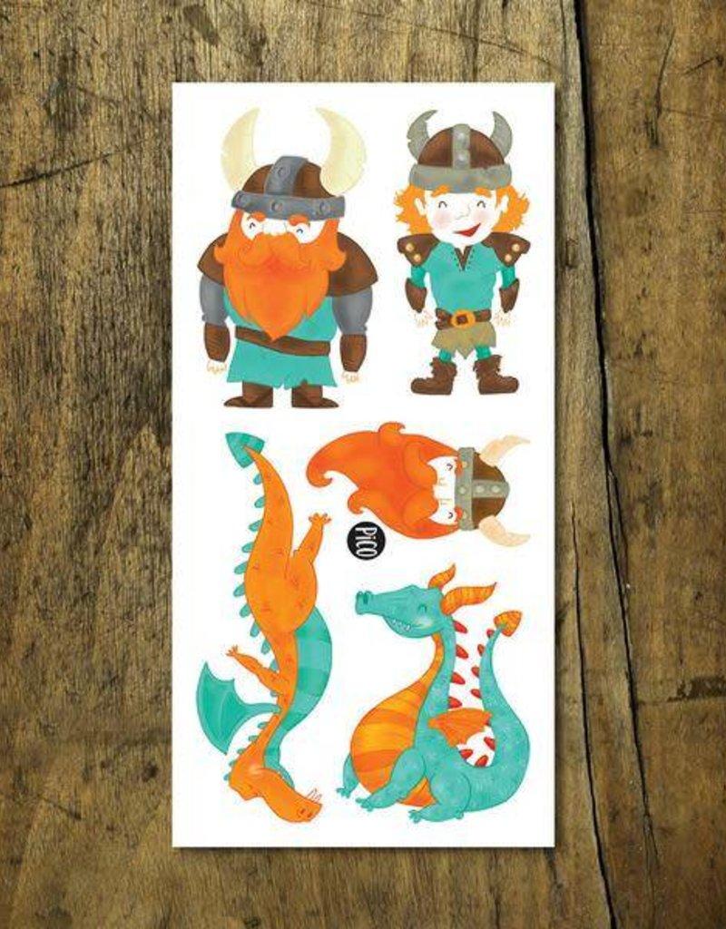 Pico Tatouage - Les gentils vikings et dragons