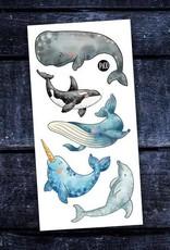 Pico Temporary tattoos - Whales