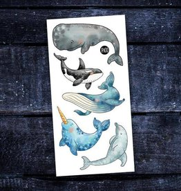 Pico Temporary tattoos - Whales