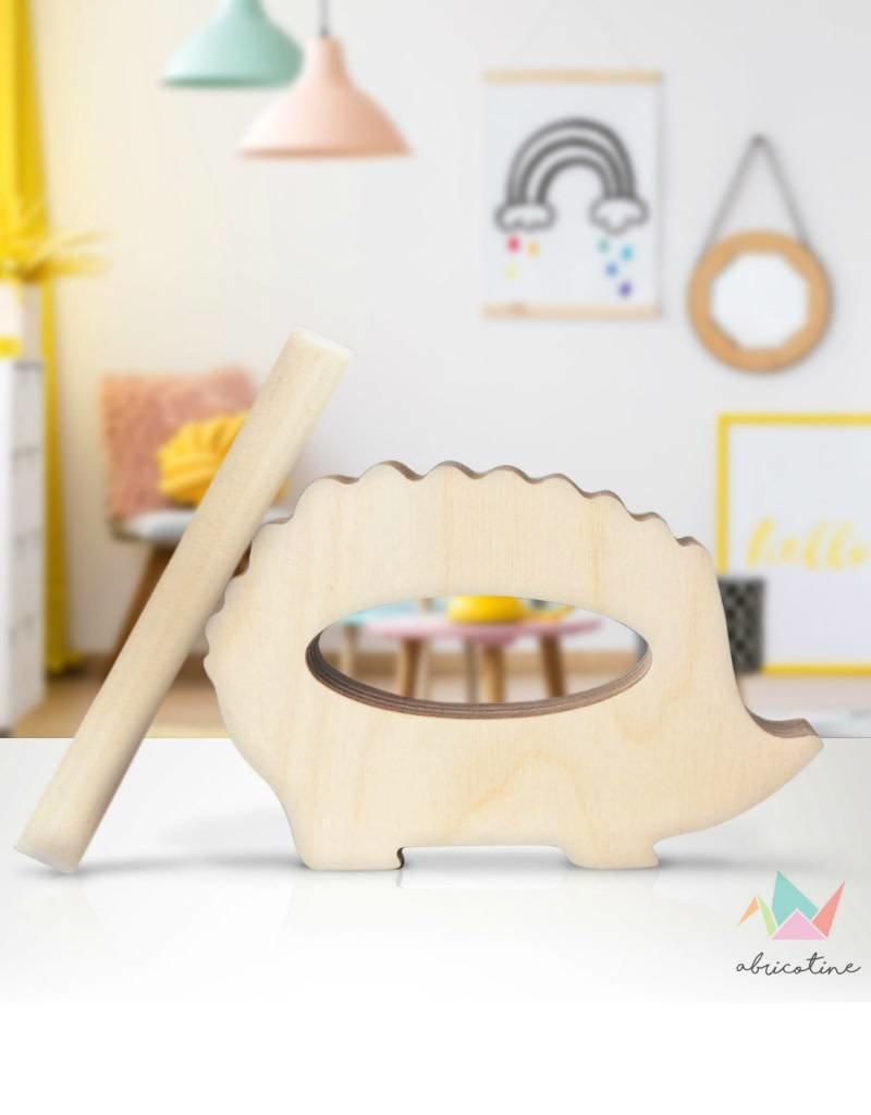 Abricotine Hérisson musical jouet en bois