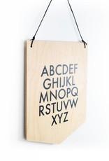 Abricotine Wooden Banner - Alphabet