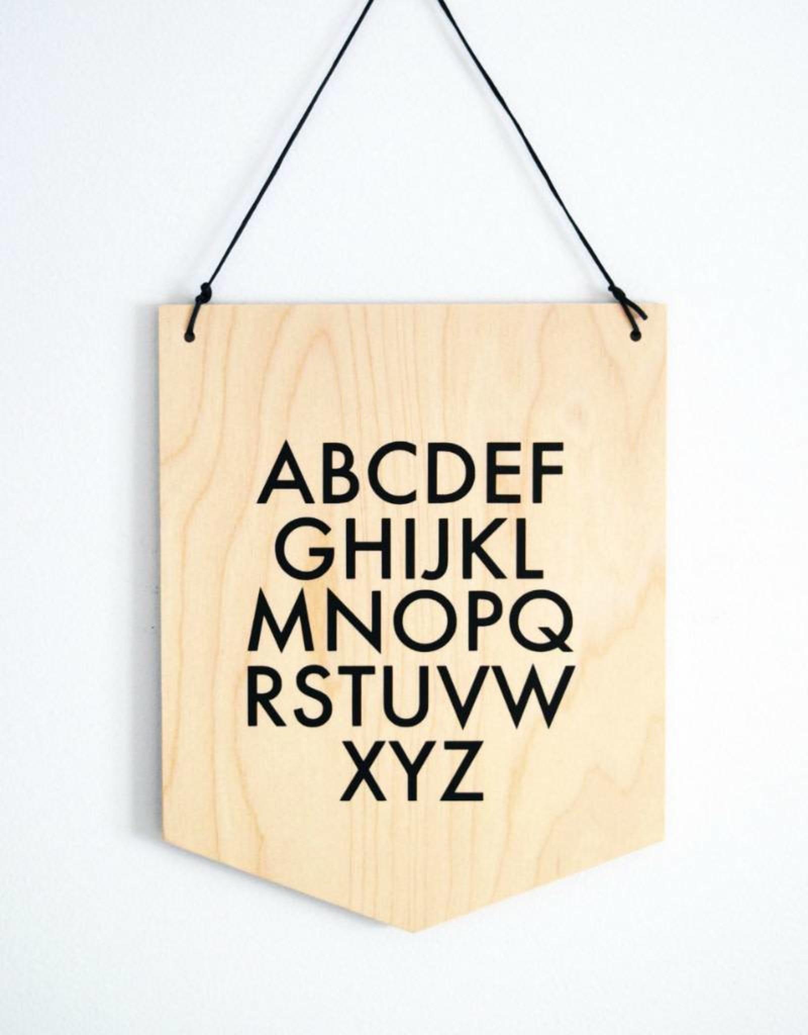 Abricotine Bannière en bois - Alphabet