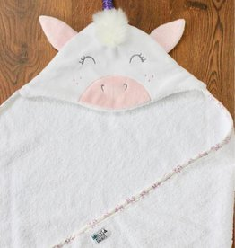 babilles et babioles Baby bath towel - Unicorn - Small
