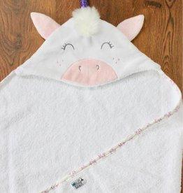 babilles et babioles Sortie de bain pour bébé - Licorne douillette - Petit