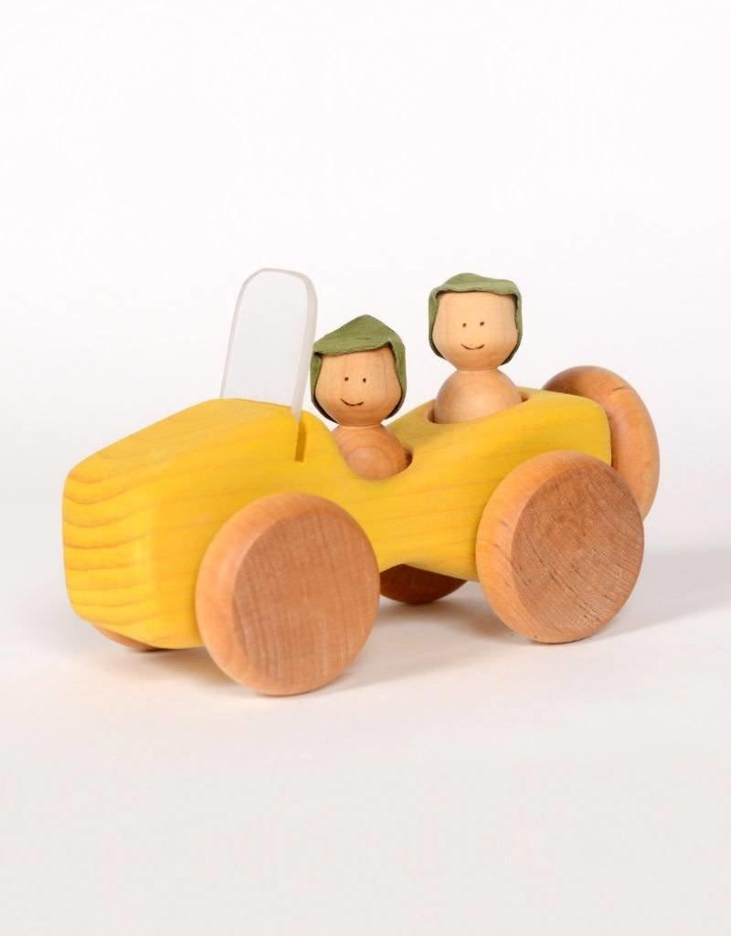 Atelier Cheval de bois Jeep en bois - Jaune