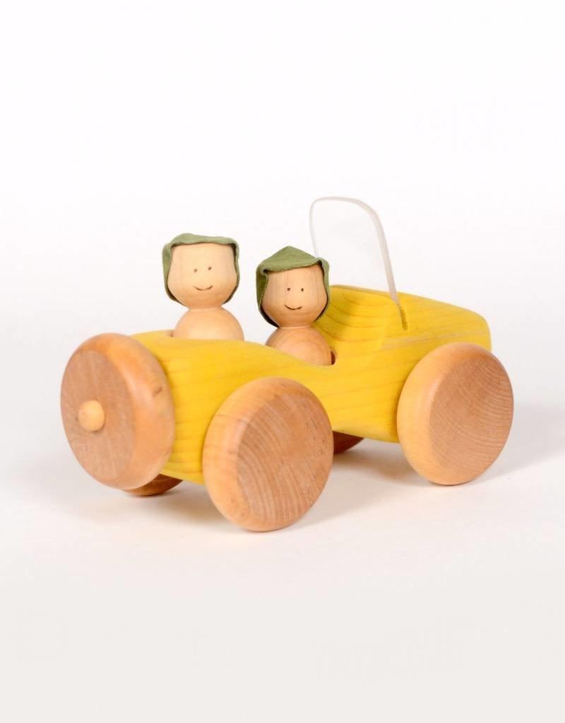 Atelier Cheval de bois Wooden Jeep - Yellow