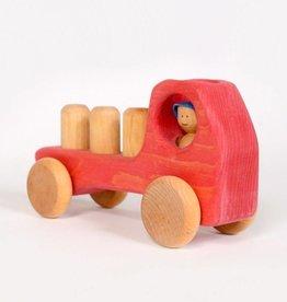 Atelier Cheval de bois Camion en bois - Rouge