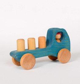 Atelier Cheval de bois Camion en bois - Bleu