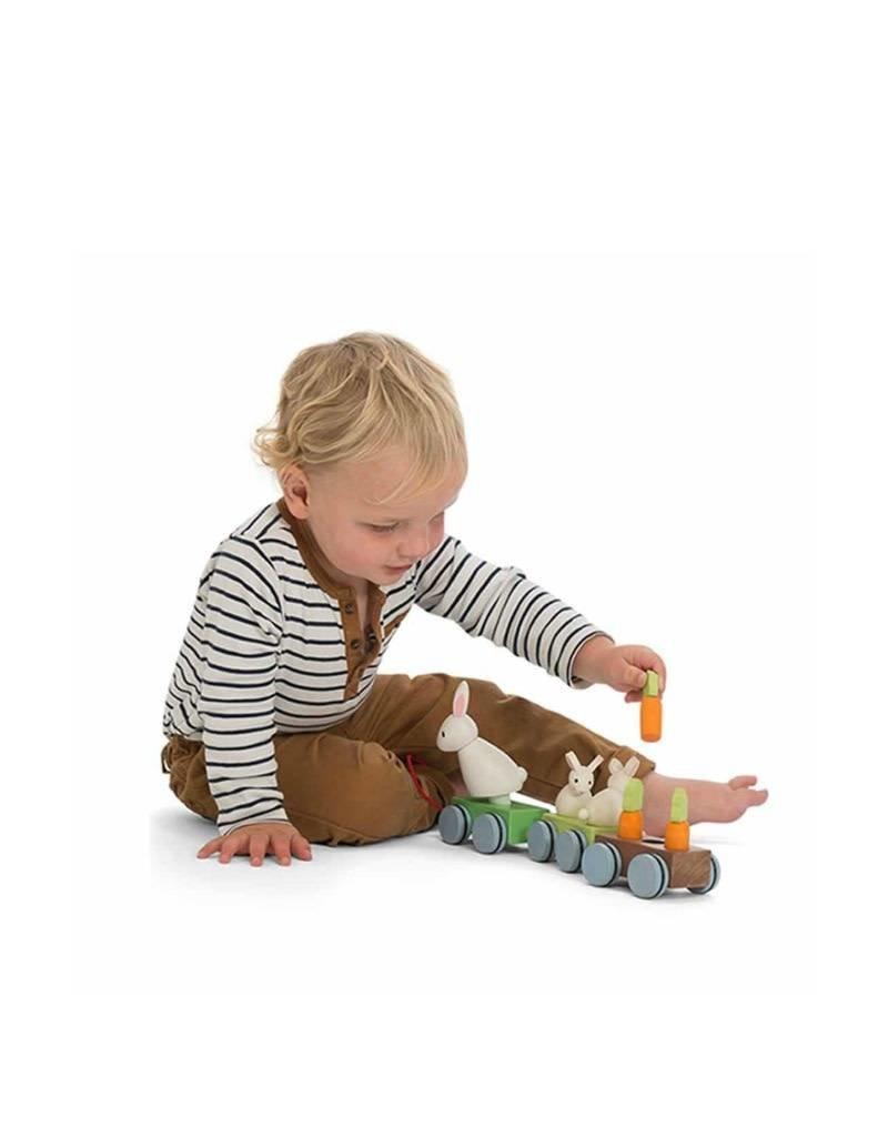 Le Toy Van Train en bois - Famille lapin