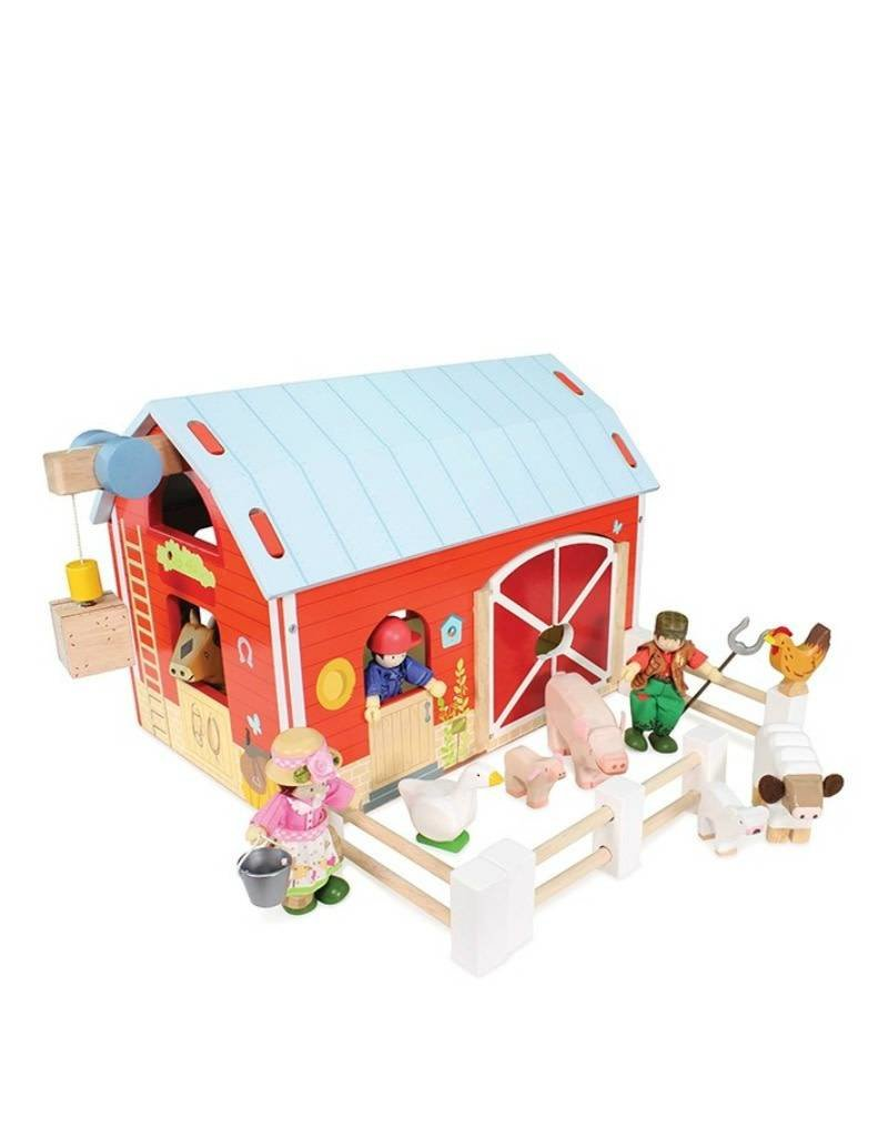 Le Toy Van Ferme rouge