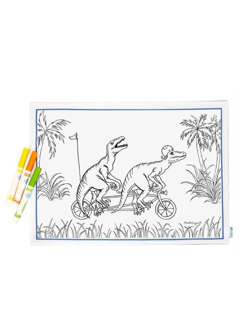 Couleur-Moi Napperon à colorier - Dinosaure