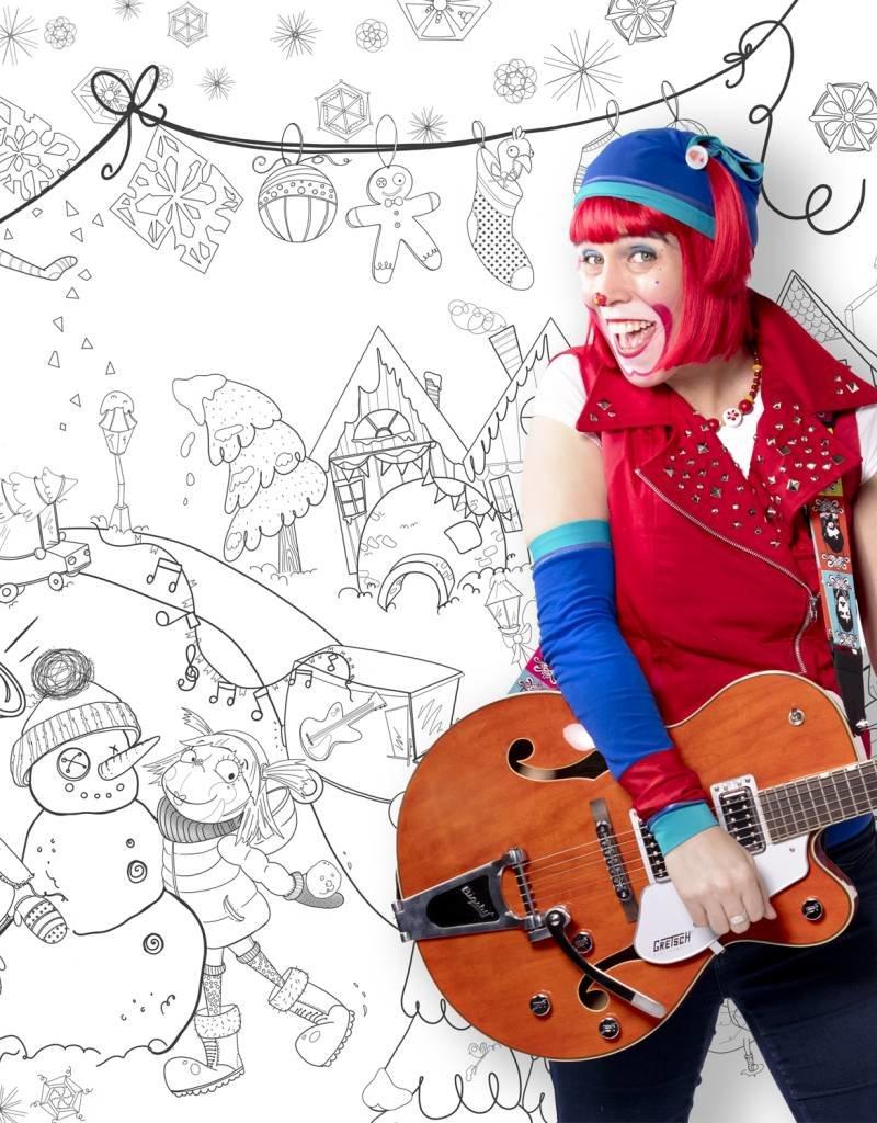Atelier Rue Tabage Jour de neige - Coloriage géant
