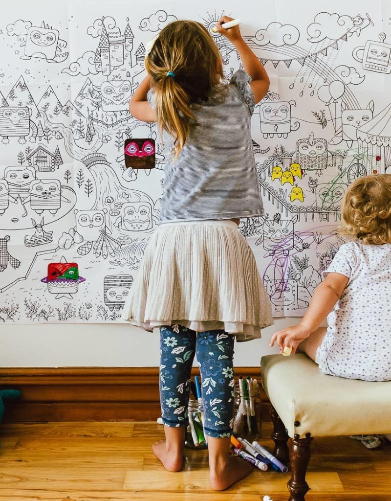 Atelier Rue Tabage Velvet world - Giant coloring