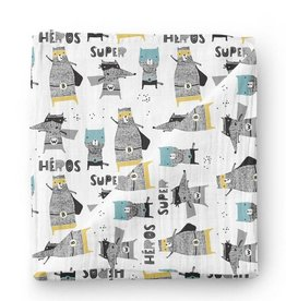 Olé Hop Bamboo blanket - Superhero animals