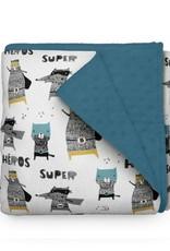 Olé Hop Couverture minky - Super animaux