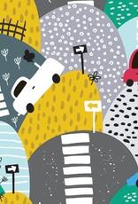 Olé Hop Couverture minky - Rallye en voiture