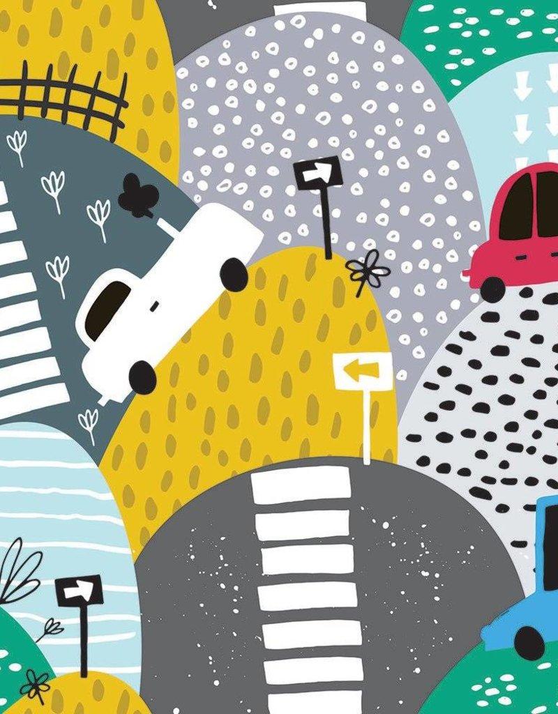 Olé Hop Doudou minky - Rallye en voiture