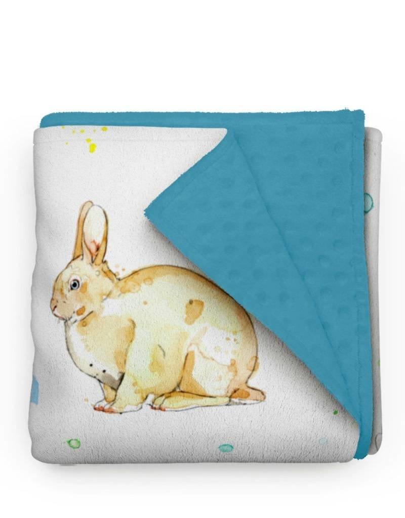 Olé Hop Minky Blanket - Rabbit