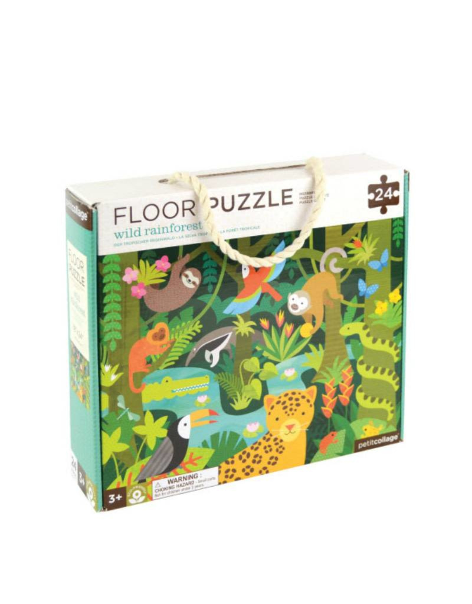 Petit Collage Floor Puzzle - Rainforest 3+