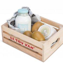 Le Toy Van Petit panier - Produits laitiers en bois